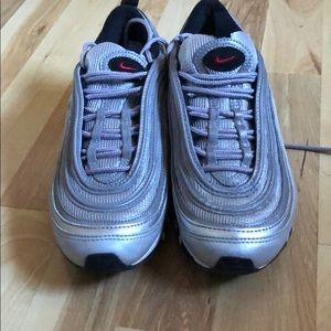 Nike Shoes - Nike airmax 97 silver bullet kids sz 4Y fits wmn 6